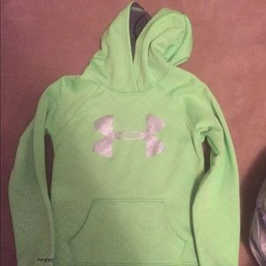A gently used Under Armor hoodie for girls